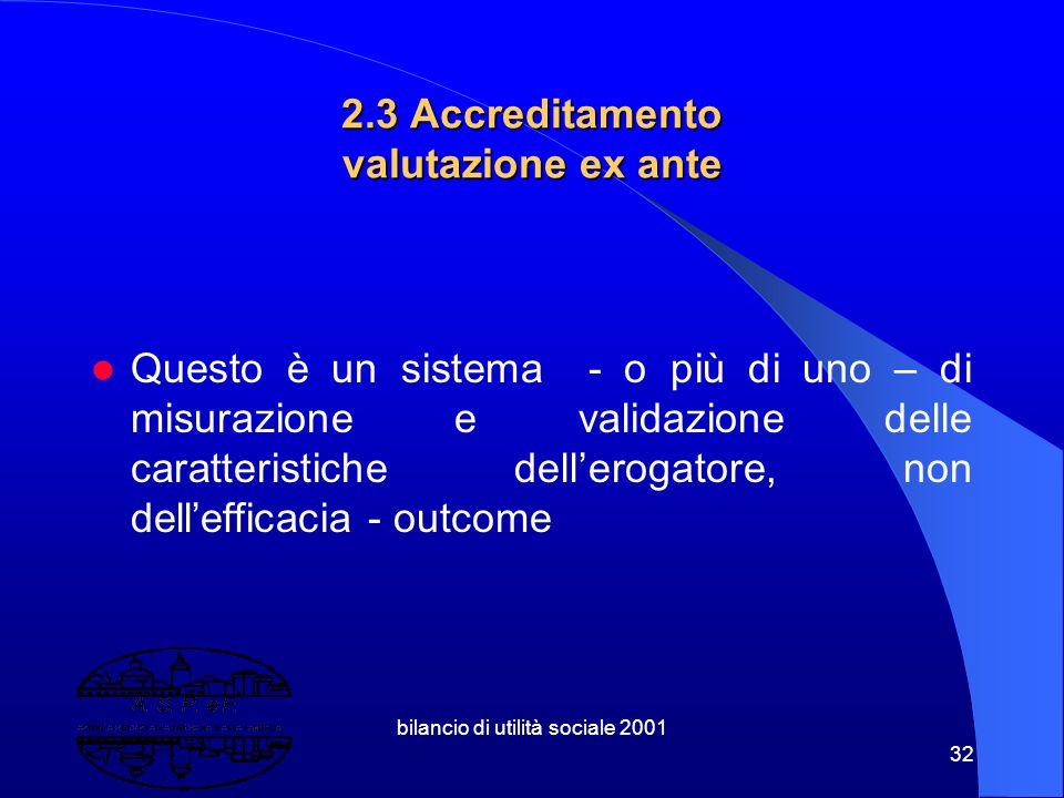 2.3 Accreditamento valutazione ex ante