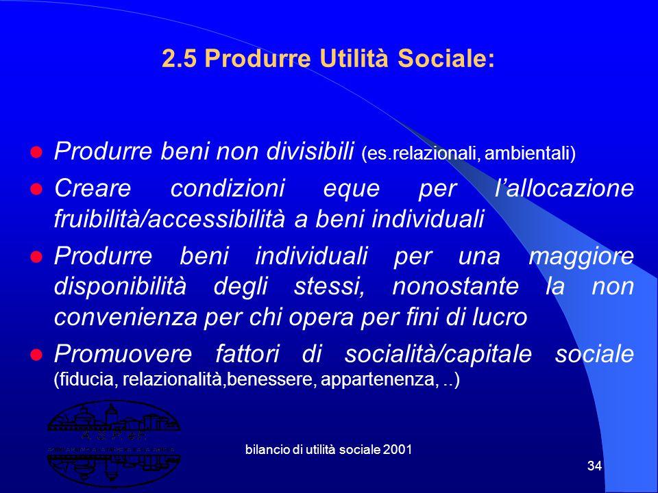 2.5 Produrre Utilità Sociale: