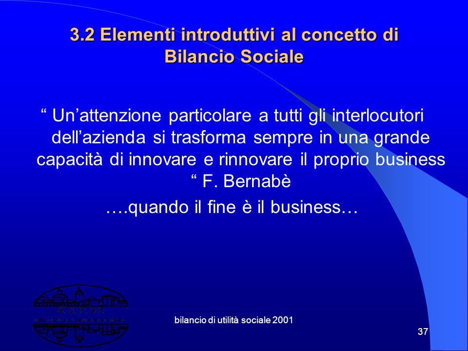 3.2 Elementi introduttivi al concetto di Bilancio Sociale