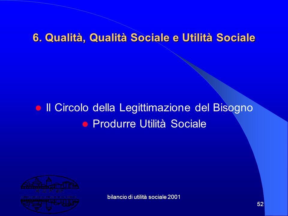 6. Qualità, Qualità Sociale e Utilità Sociale