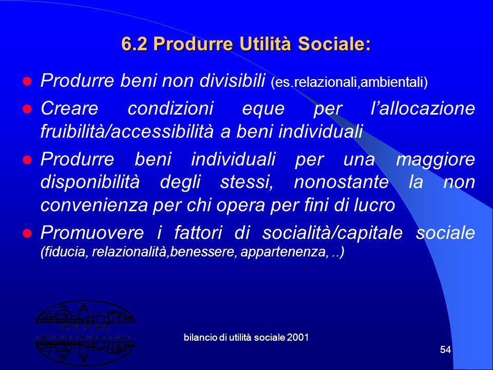 6.2 Produrre Utilità Sociale: