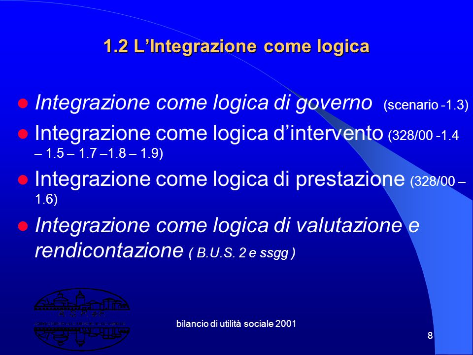 1.2 L'Integrazione come logica