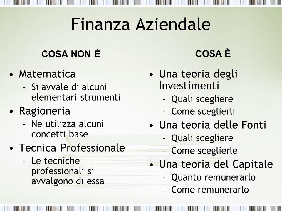 Finanza Aziendale Matematica Ragioneria Tecnica Professionale