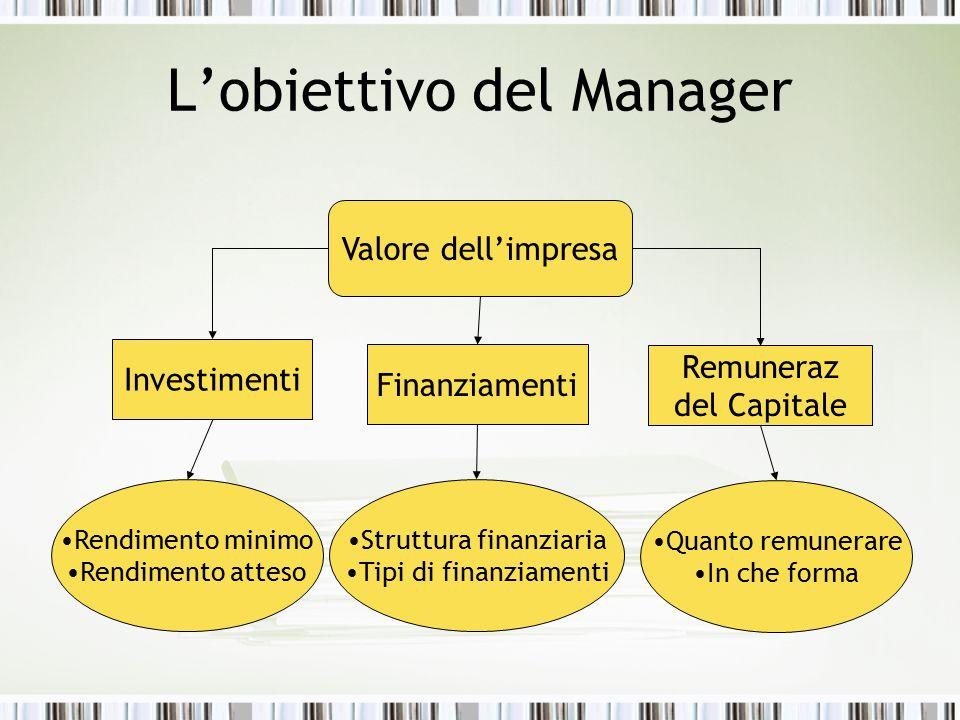 L'obiettivo del Manager
