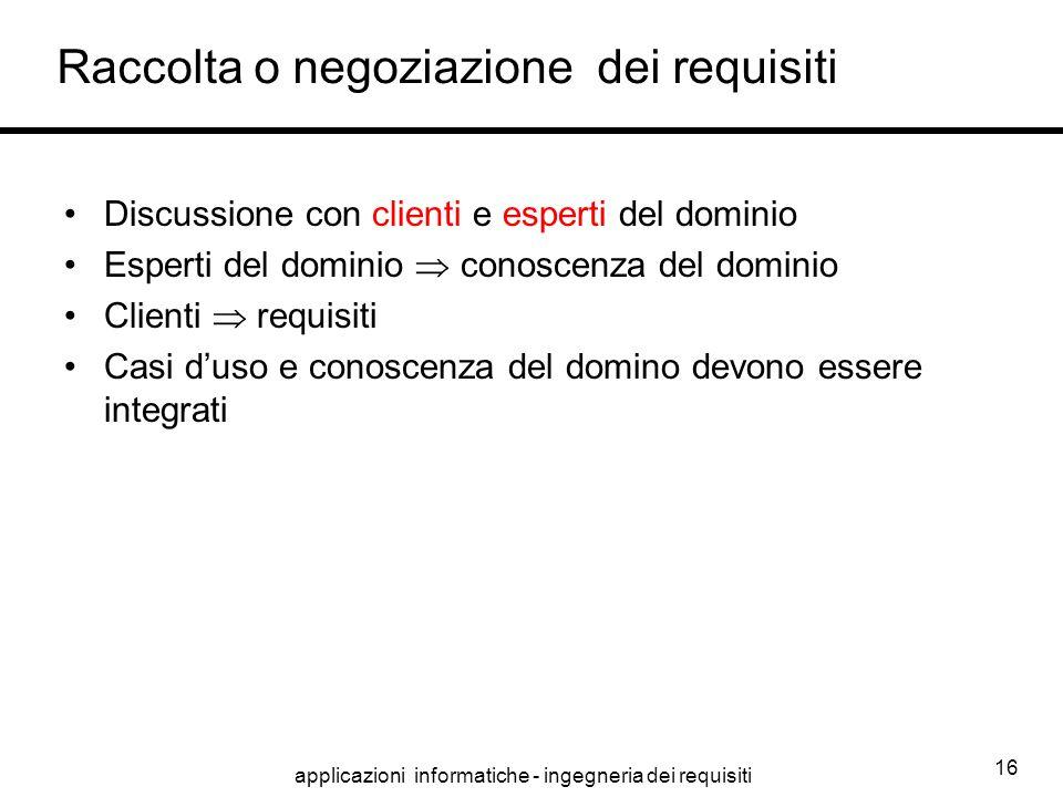 Raccolta o negoziazione dei requisiti
