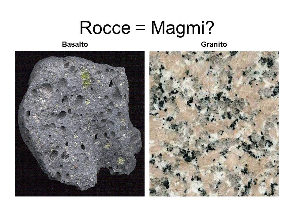 Rocce = Magmi Basalto Granito