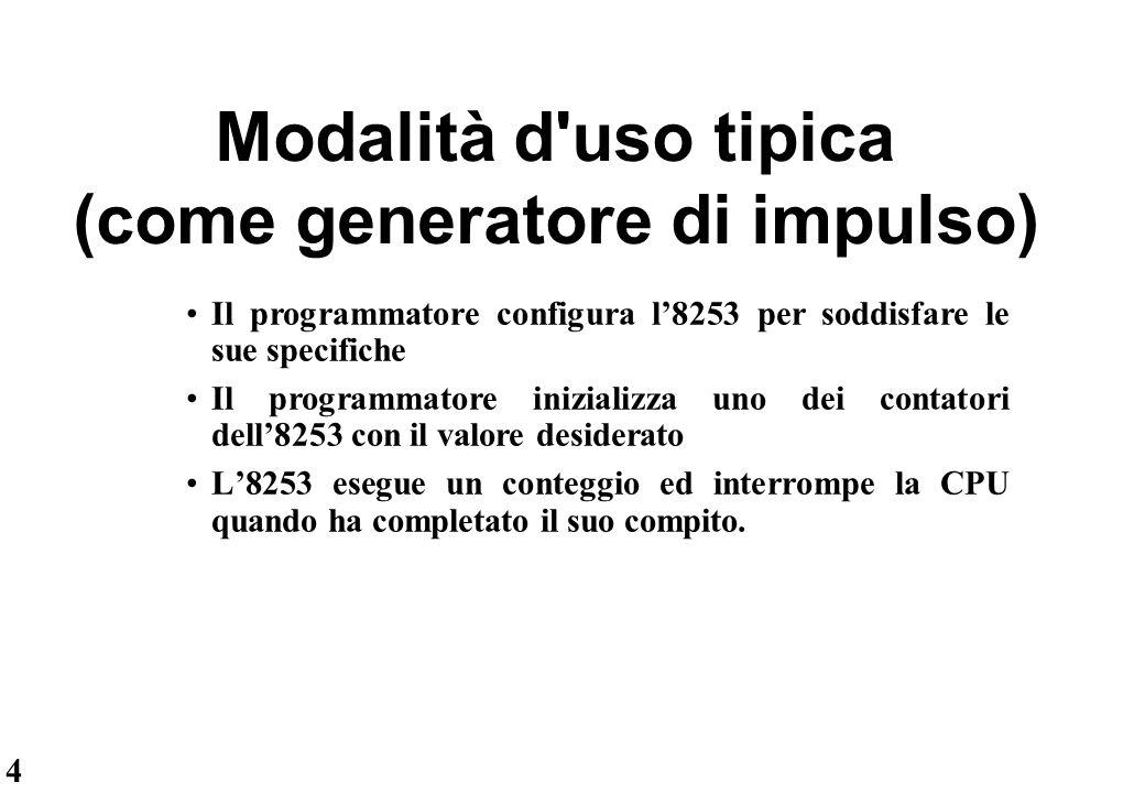 Modalità d uso tipica (come generatore di impulso)