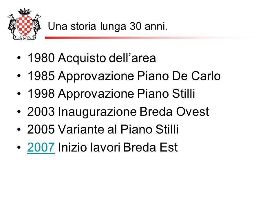 1985 Approvazione Piano De Carlo 1998 Approvazione Piano Stilli