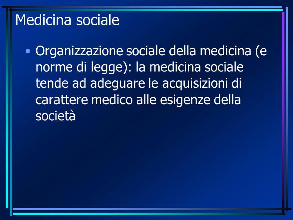 Medicina sociale