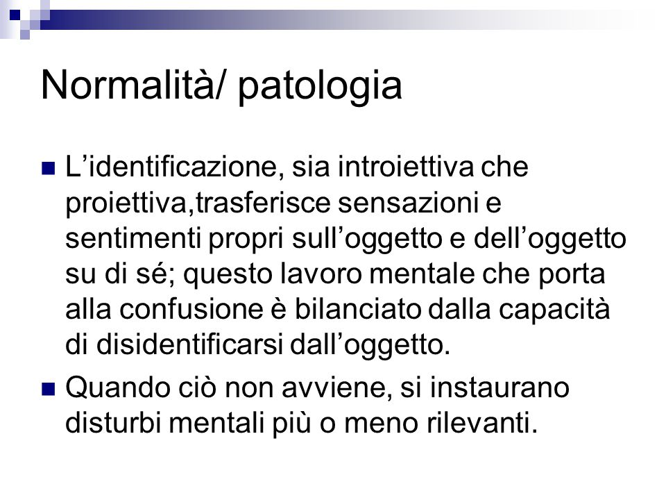 Normalità/ patologia