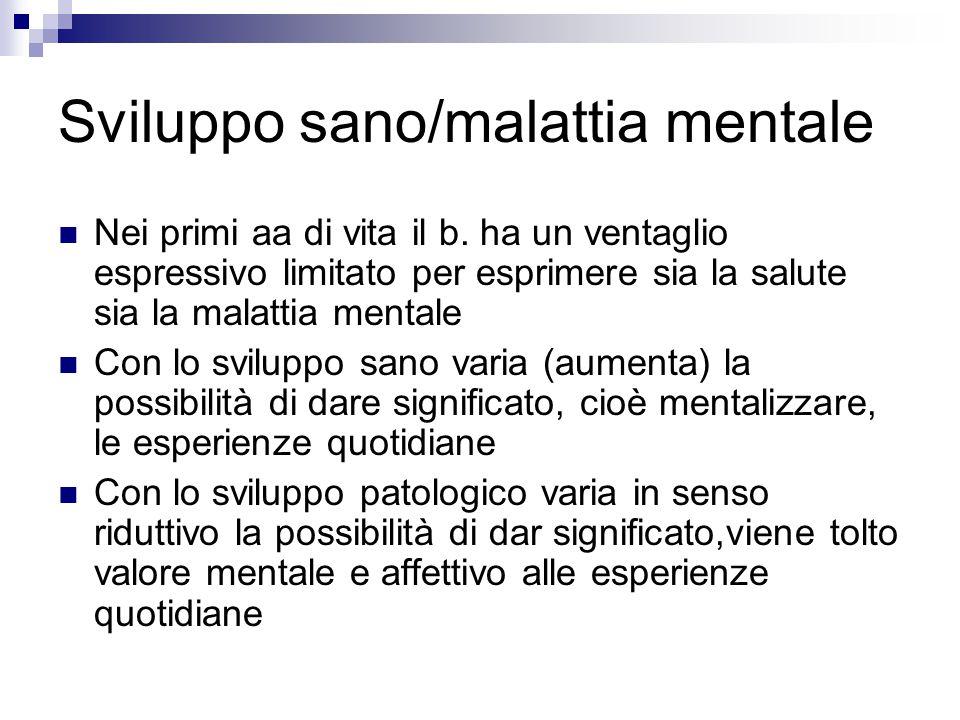 Sviluppo sano/malattia mentale