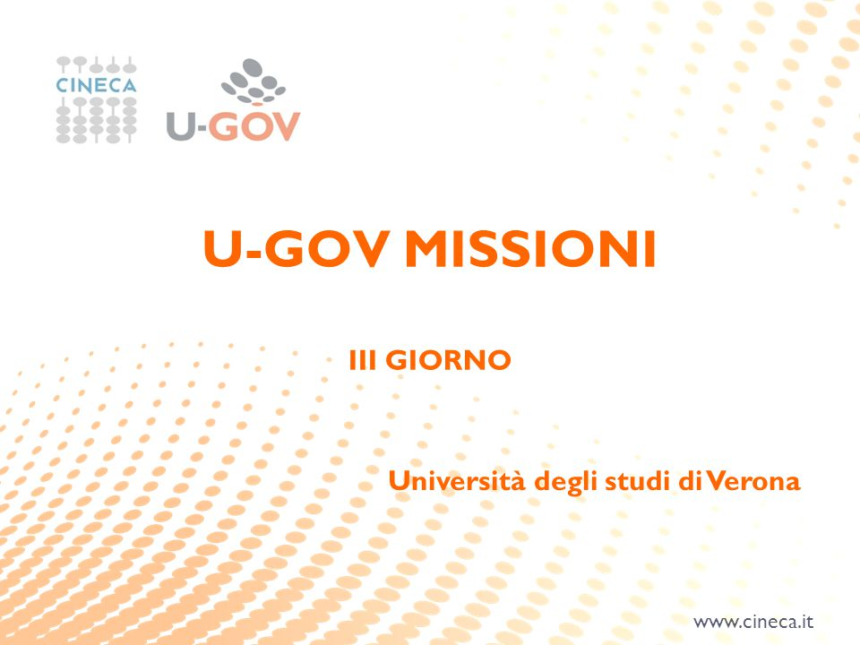 U-GOV MISSIONI III GIORNO