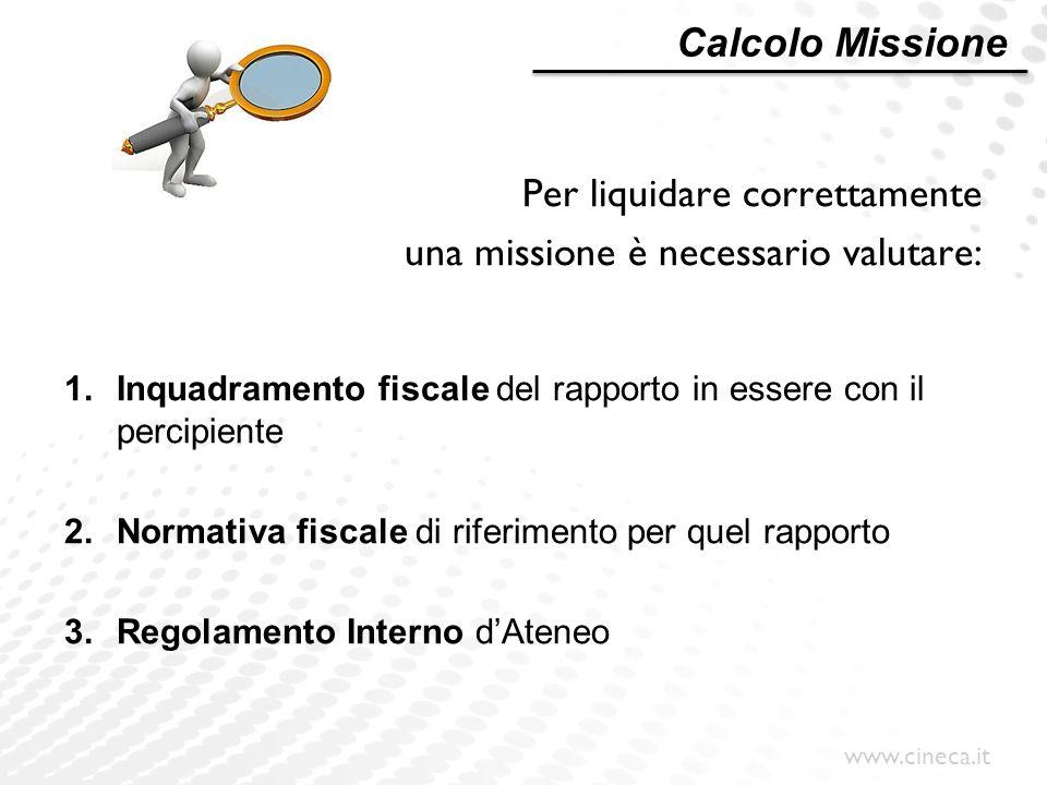 Per liquidare correttamente una missione è necessario valutare: