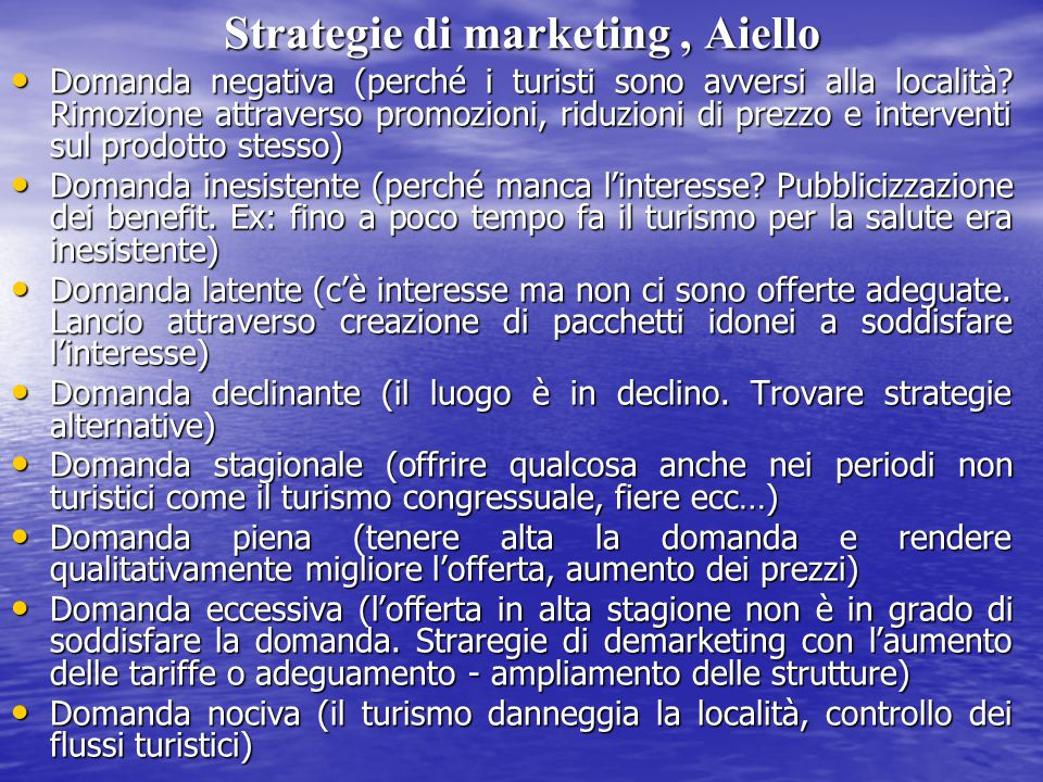 Strategie di marketing , Aiello
