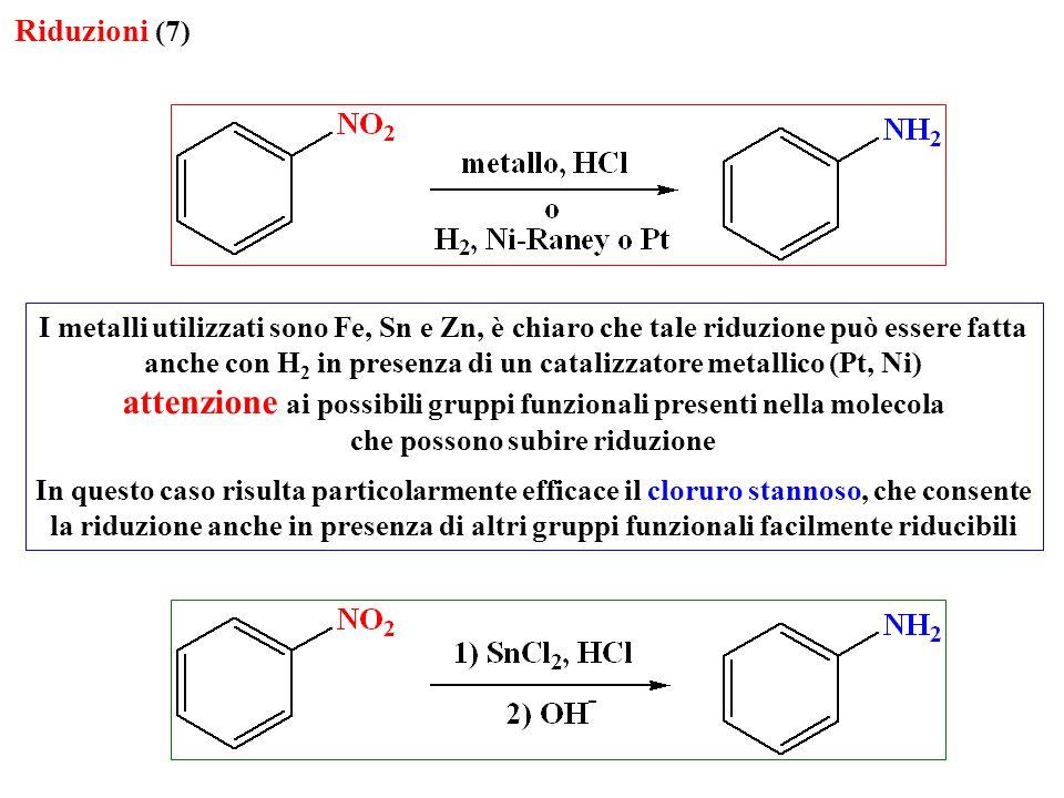attenzione ai possibili gruppi funzionali presenti nella molecola