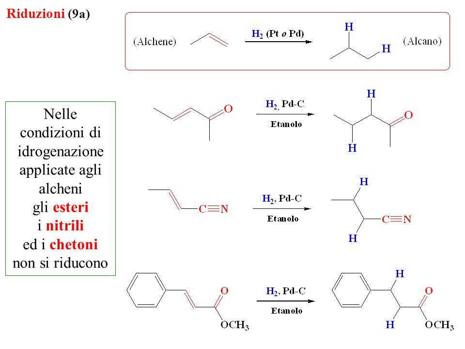 Nelle condizioni di idrogenazione applicate agli alcheni