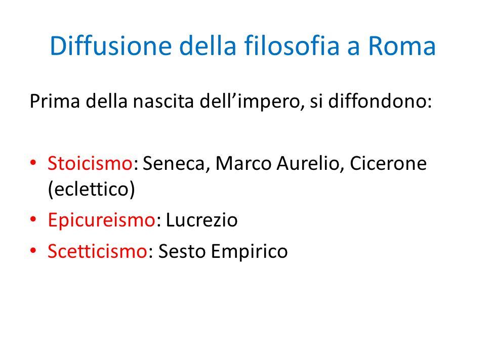 Diffusione della filosofia a Roma