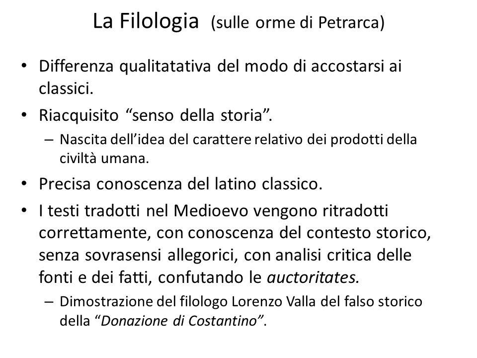 La Filologia (sulle orme di Petrarca)