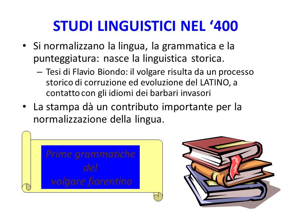 STUDI LINGUISTICI NEL '400