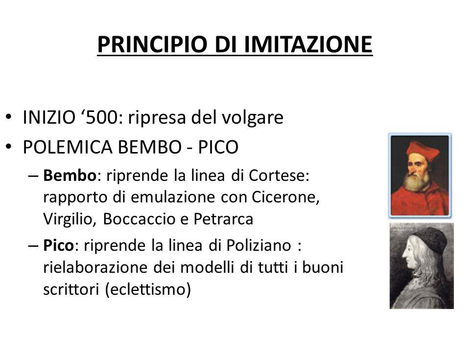PRINCIPIO DI IMITAZIONE