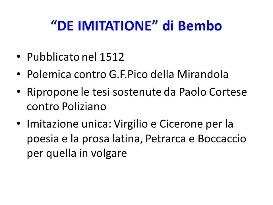 DE IMITATIONE di Bembo