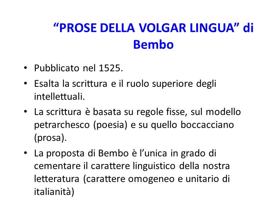 PROSE DELLA VOLGAR LINGUA di Bembo