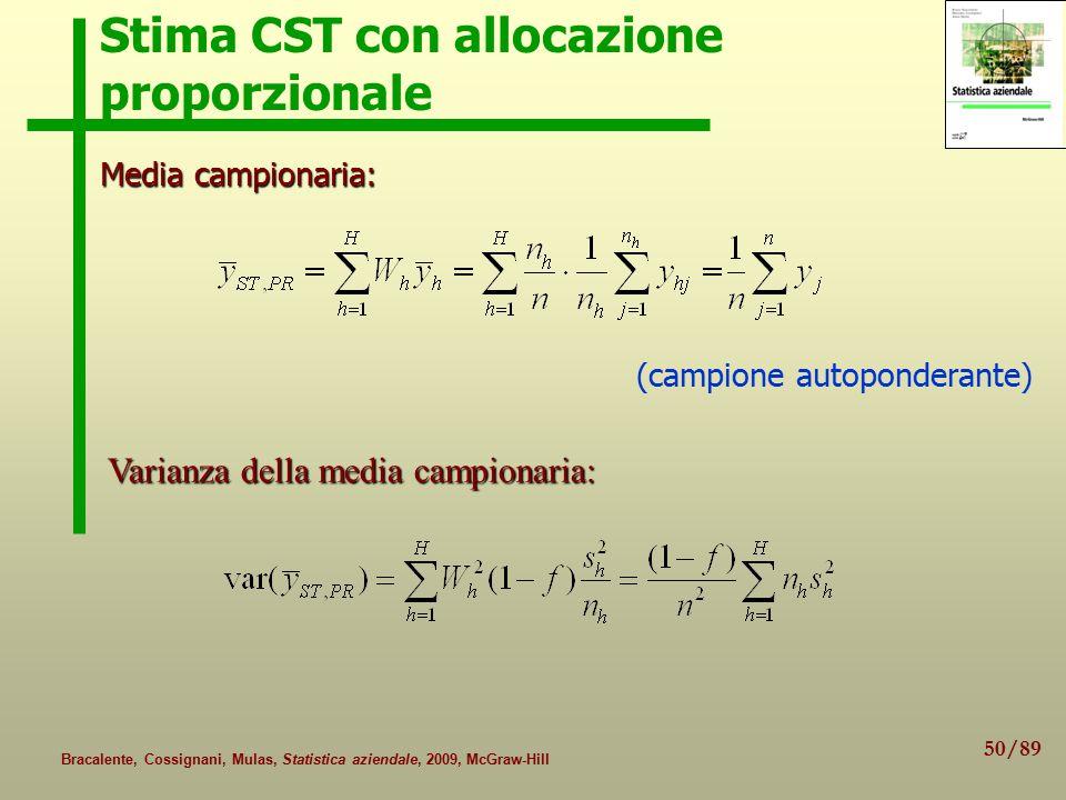 Stima CST con allocazione proporzionale