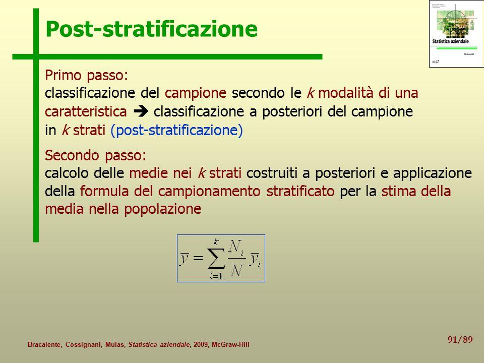Post-stratificazione