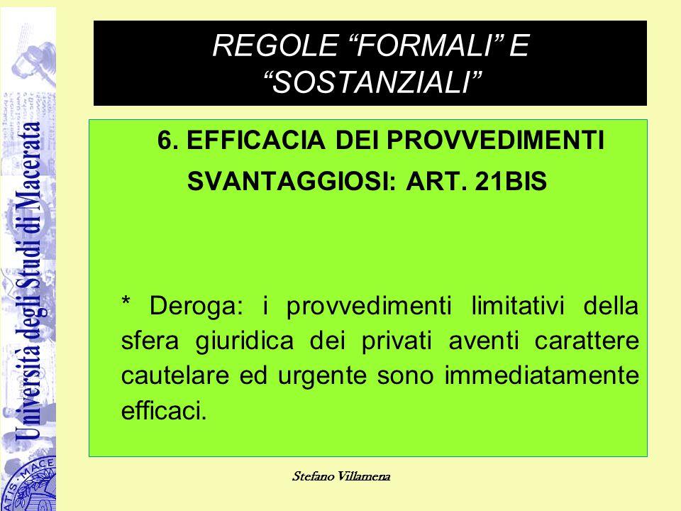 REGOLE FORMALI E SOSTANZIALI