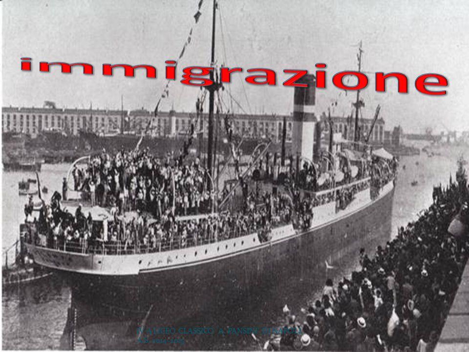 immigrazione IV A LICEO CLASSICO A. PANSINI DI NAPOLI, A.S. 2014-2015