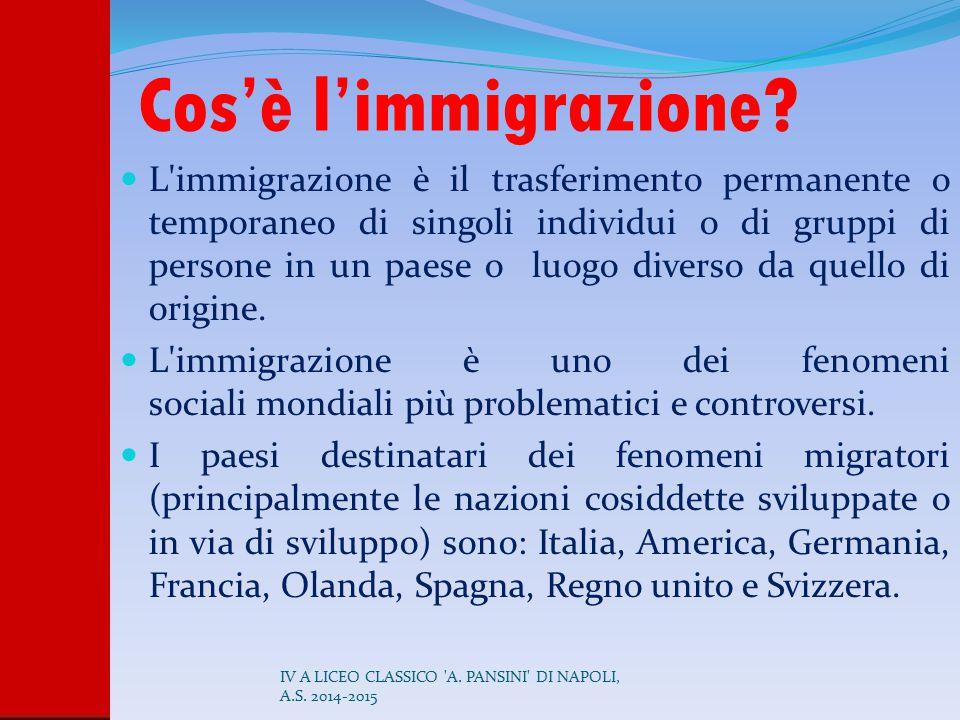 Cos'è l'immigrazione