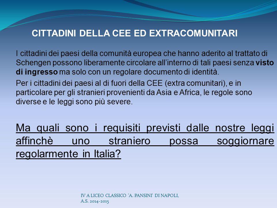 CITTADINI DELLA CEE ED EXTRACOMUNITARI