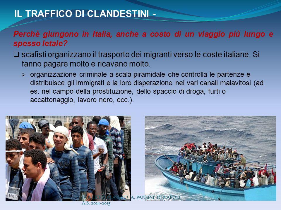 IL TRAFFICO DI CLANDESTINI -