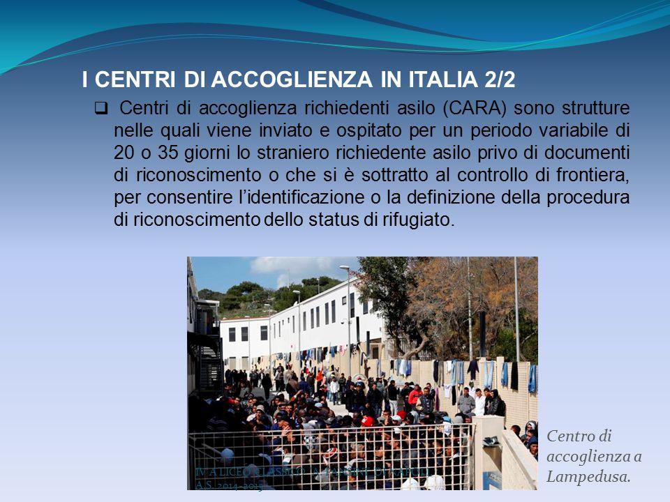 I CENTRI DI ACCOGLIENZA IN ITALIA 2/2