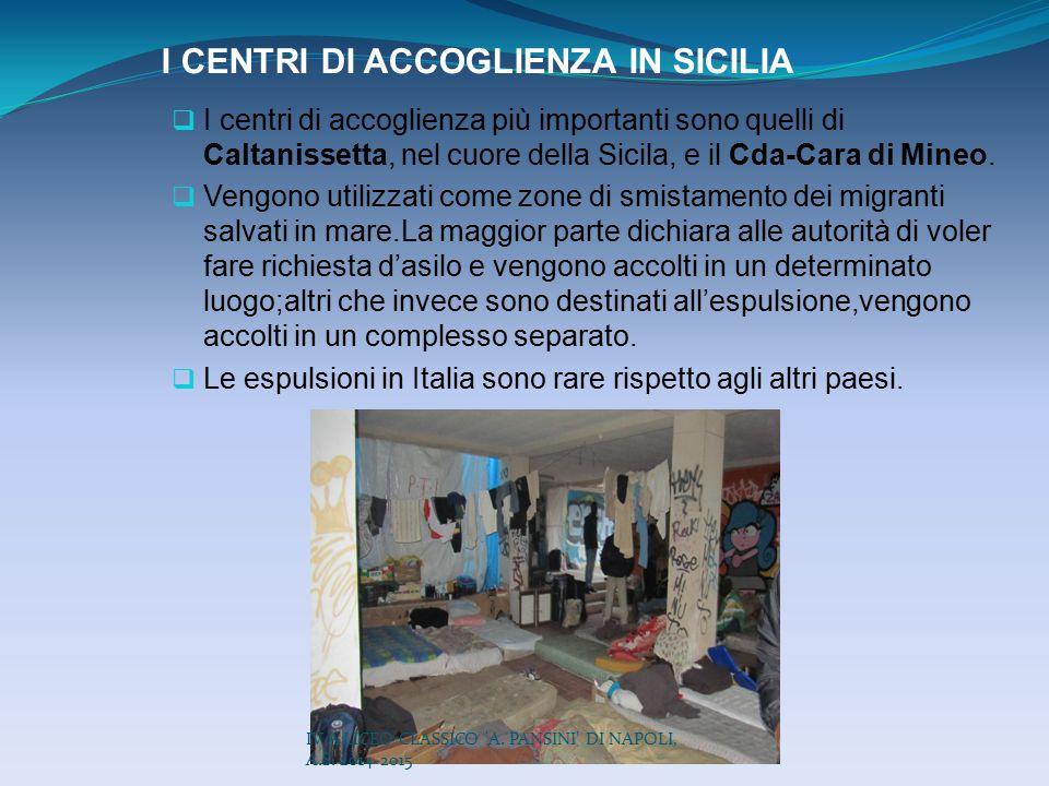 I CENTRI DI ACCOGLIENZA IN SICILIA