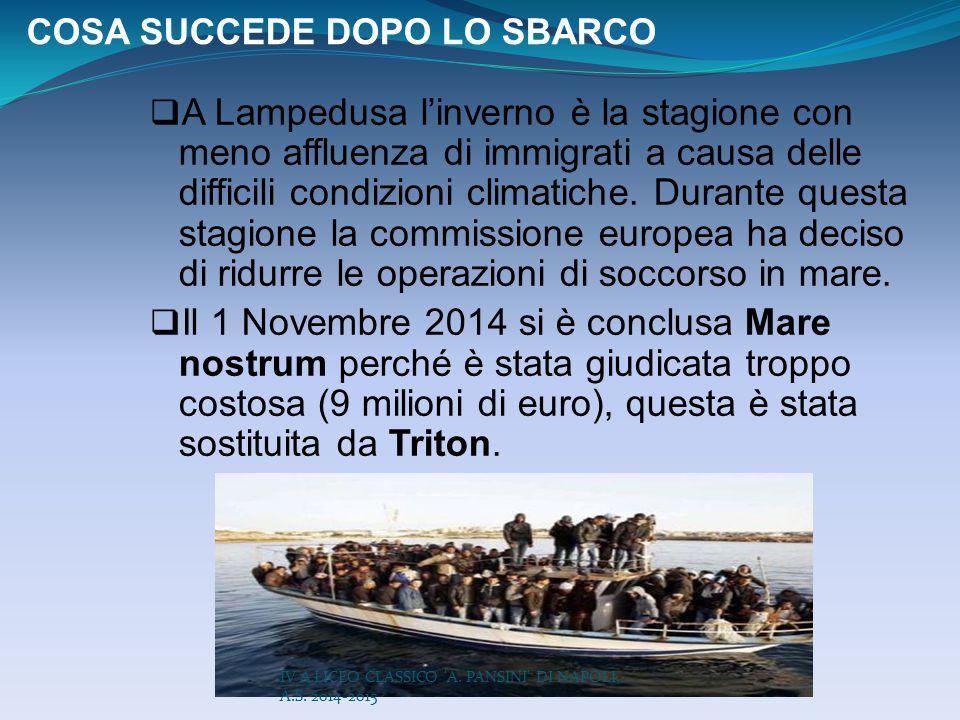 COSA SUCCEDE DOPO LO SBARCO