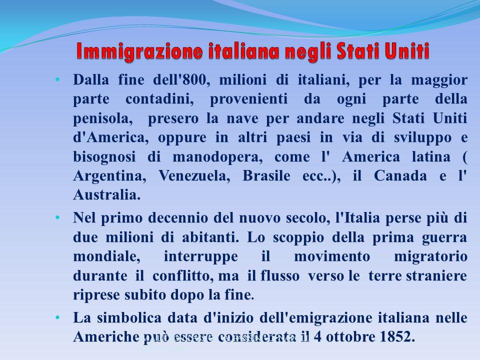 Immigrazione italiana negli Stati Uniti