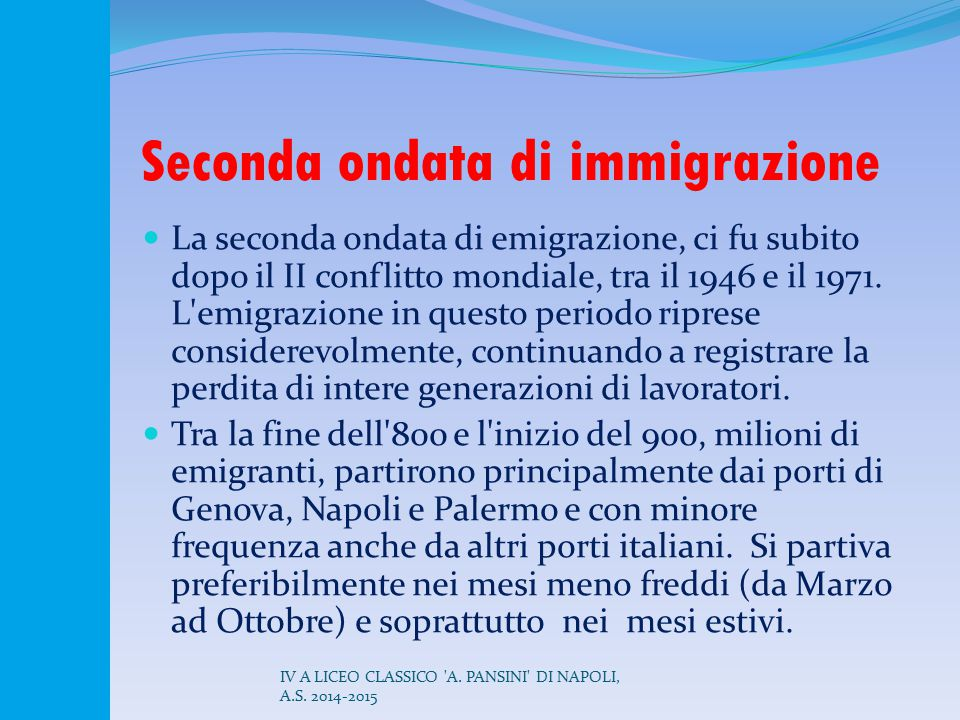 Seconda ondata di immigrazione
