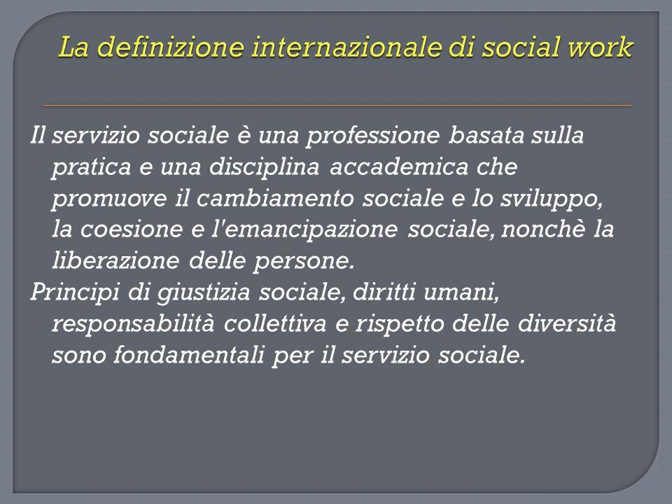 La definizione internazionale di social work
