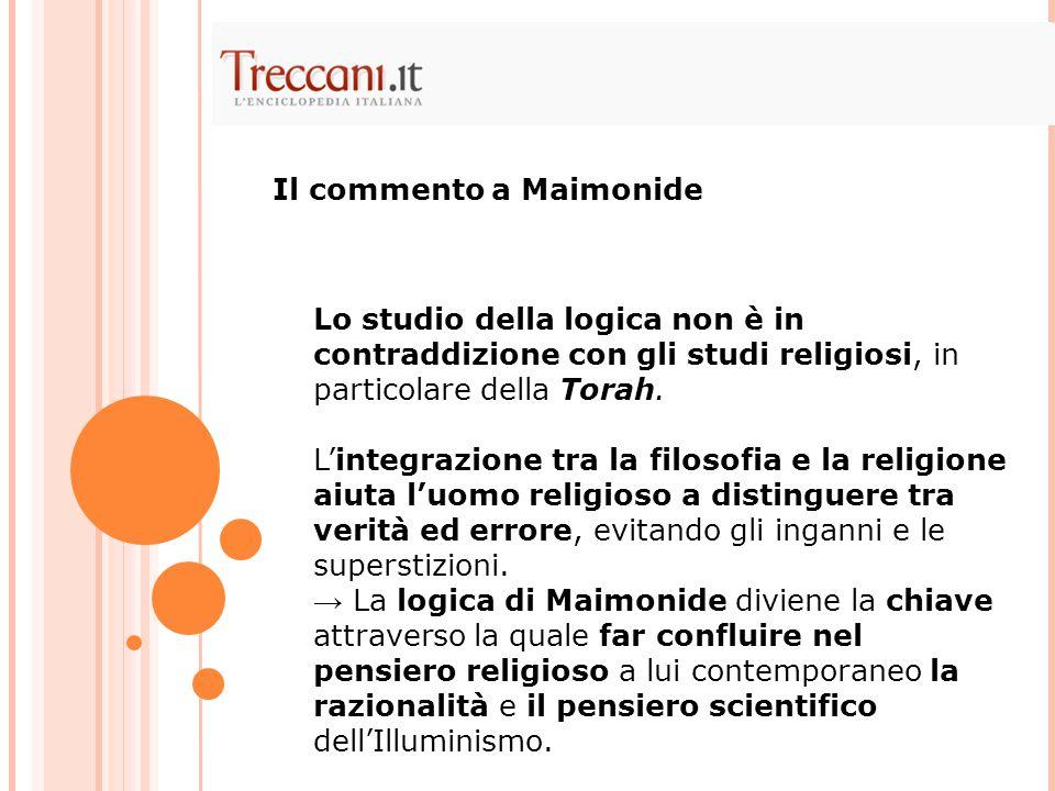 Il commento a Maimonide