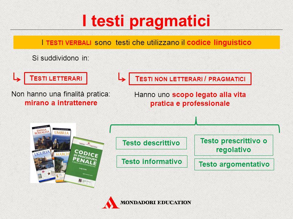 Testi non letterari / pragmatici