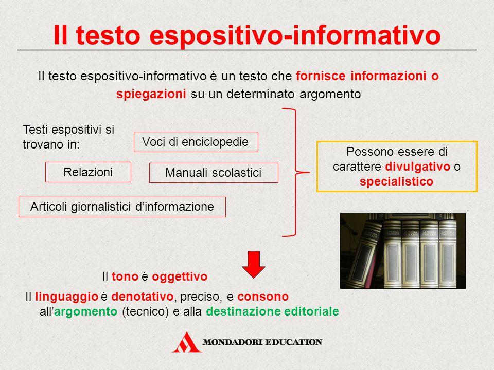 Il testo espositivo-informativo