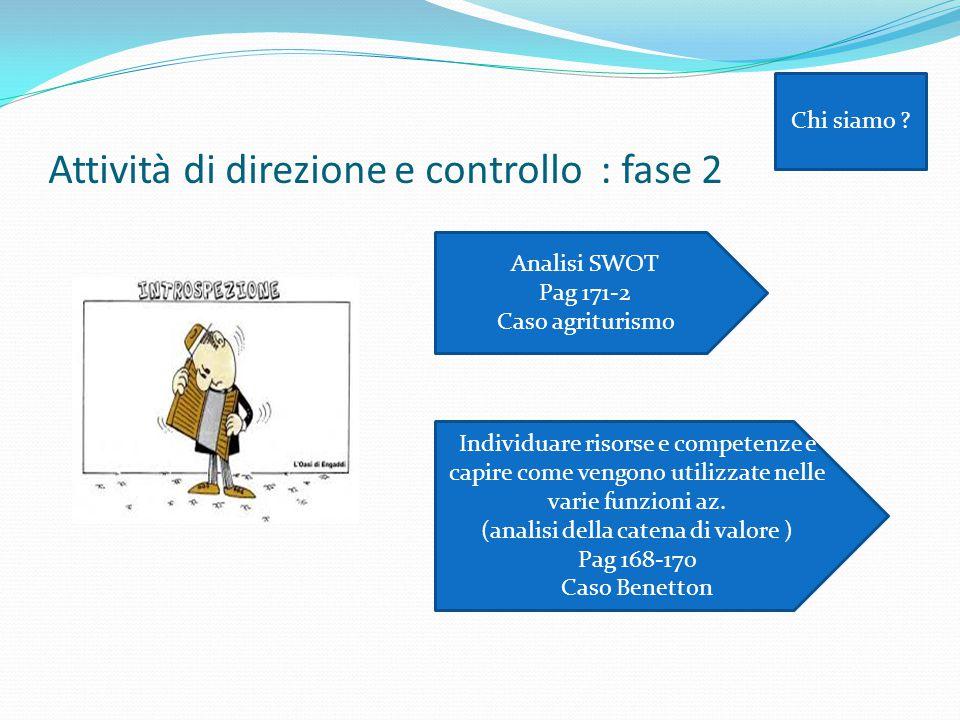 Attività di direzione e controllo : fase 2