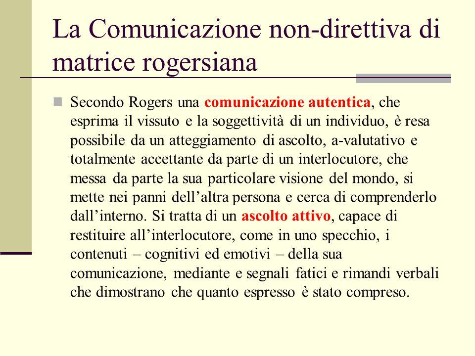 La Comunicazione non-direttiva di matrice rogersiana
