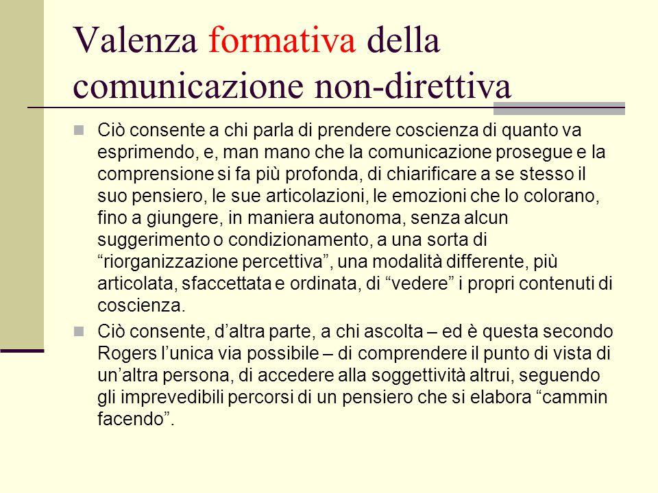 Valenza formativa della comunicazione non-direttiva