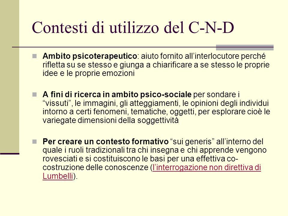 Contesti di utilizzo del C-N-D