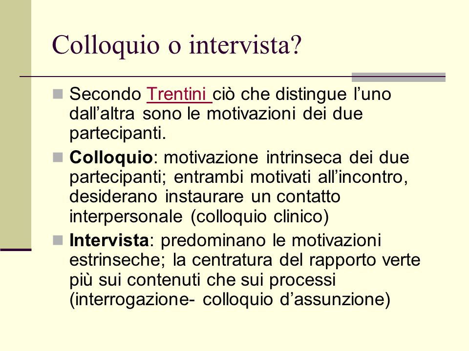 Colloquio o intervista