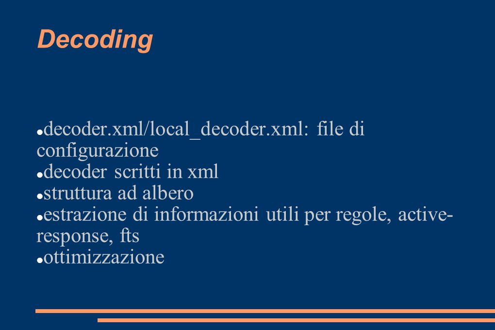 Decoding decoder.xml/local_decoder.xml: file di configurazione