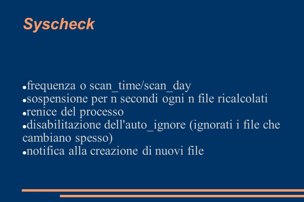 Syscheck frequenza o scan_time/scan_day