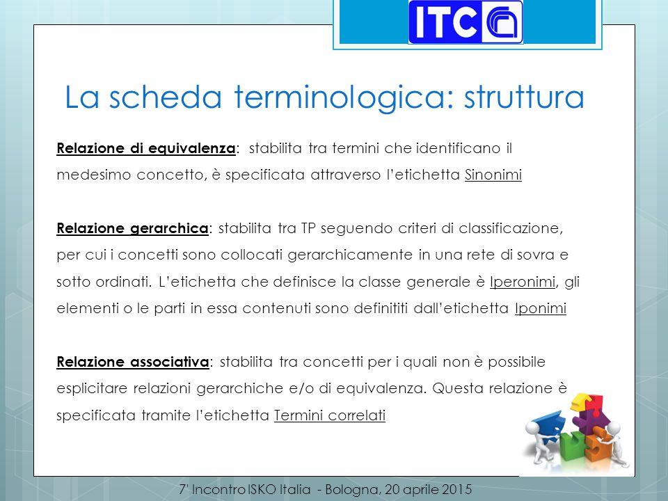 La scheda terminologica: struttura